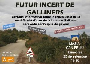 Junts per Sant Quirze denuncia l'amenaça que suposa la nova planificació urbanística impulsada per l'alcaldessa.
