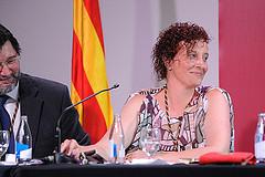 Elisabeth Oliveras en l'acte de constitució del ple municipal pel periode 2015 - 2019. Foto: Ajuntament de Sant Quirze