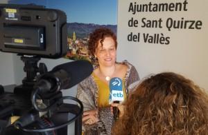 L'alcaldessa Elisabeth Oliveras, entrevista per la TV pública d'Euskadi